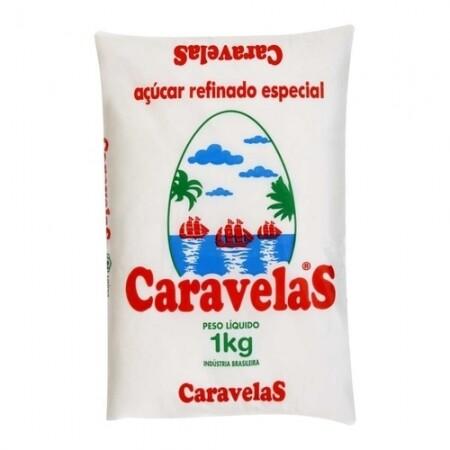 AÇÚCAR REFINADO CARAVELLAS 1 KG